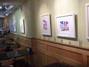 Douglas Rickard's cityscapes art exhibition