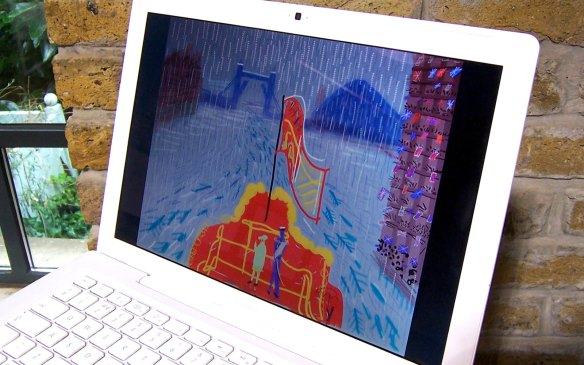 David Hockney iPad River Pageant art