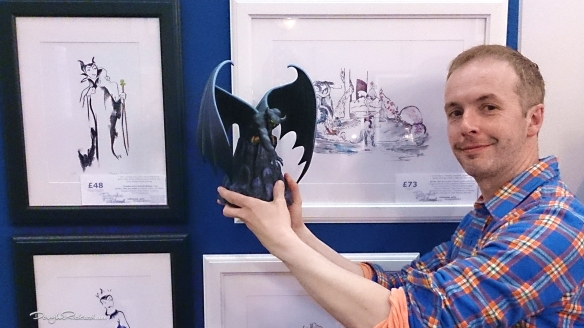 Douglas Rickard with Chernabog Walt Disney Classics Collection and his Fantasia drawing