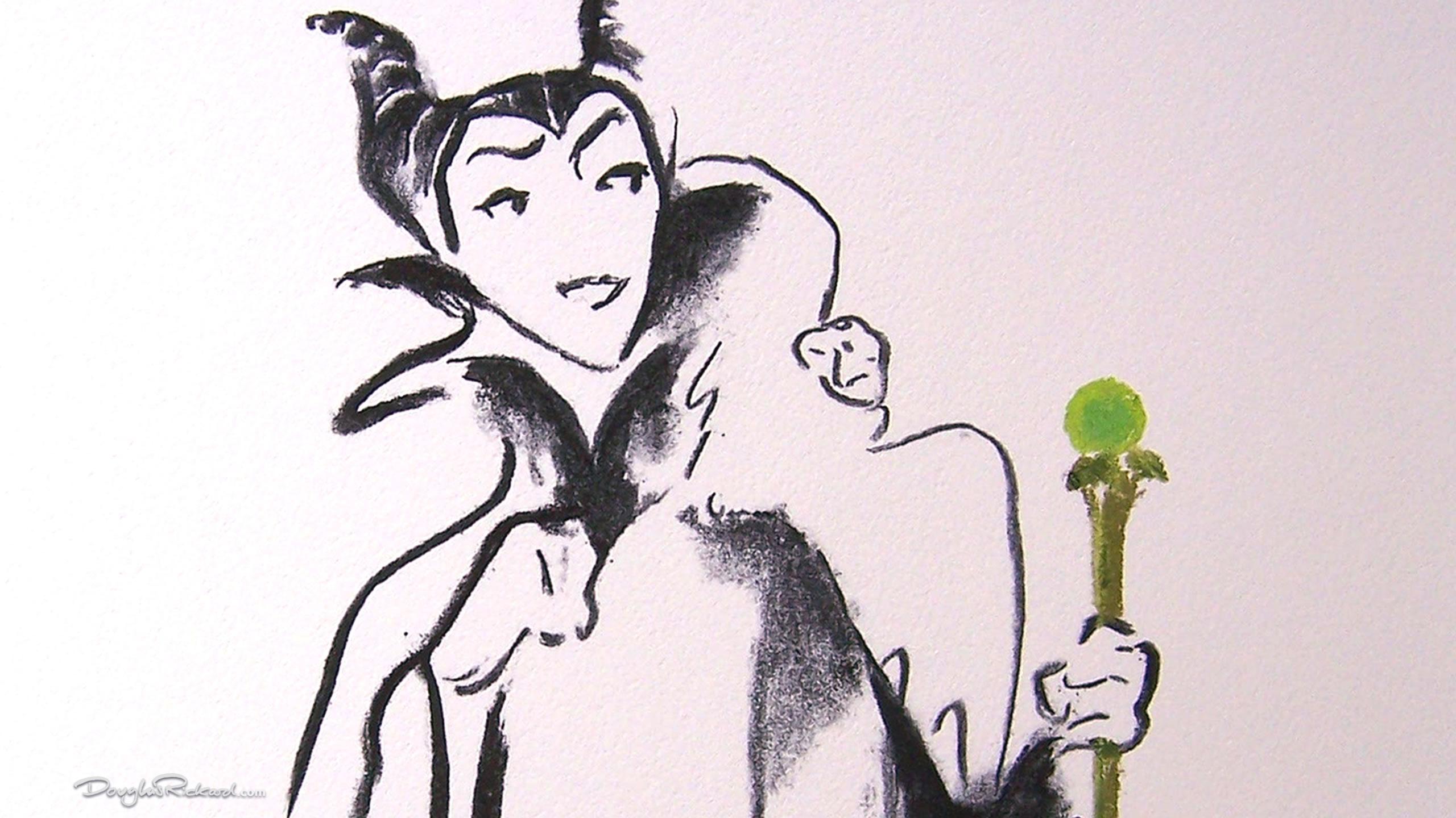 Cruella De Vil Art Deco WDCC villain wretched drawing fine art print