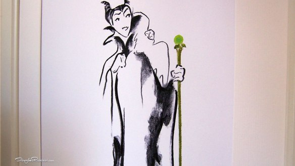 Maleficent Numbered Limited Edition Art by Douglas Rickard