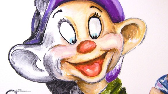 Dopey drawing by Douglas Rickard