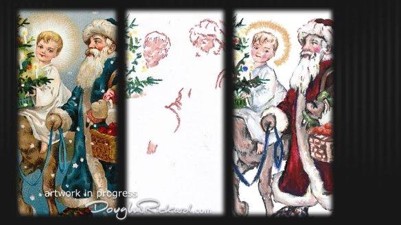 Redrawing vintage Christmas illustrations