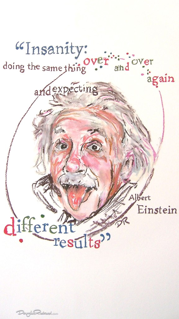 Albert Einstein pictures by Douglas Rickard