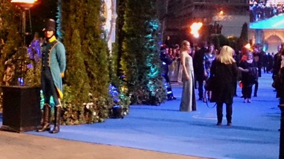Lily James blue carpet during Cinderella UK Premiere