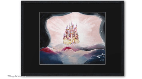 Snow White castle framed art