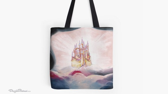 Snow White castle tote bag