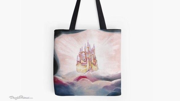 Snow White castle tote bag