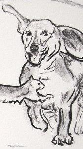 Fun for dachshunds drawing