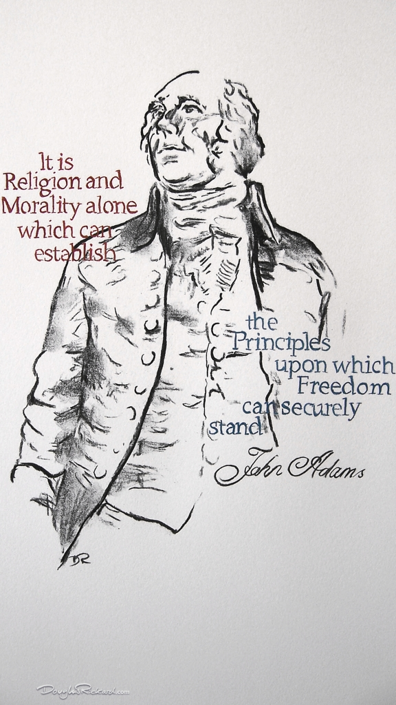 John Adams - Freedom by Douglas Rickard
