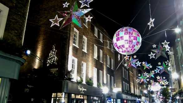 Carnaby Street Christmas lights 2015