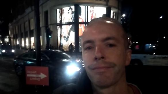 Douglas Rickard recording a Vlog
