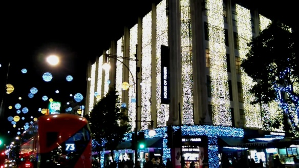 Oxford Street Christmas lights 2015
