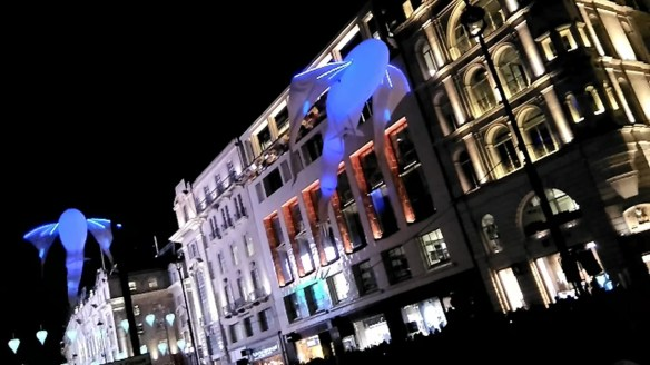 Lumineoles by Porte par le vent at Lumiere London 2016