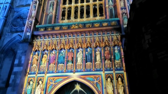 Westminster Abbey The Light of the Spirit at Lumiere London 2016