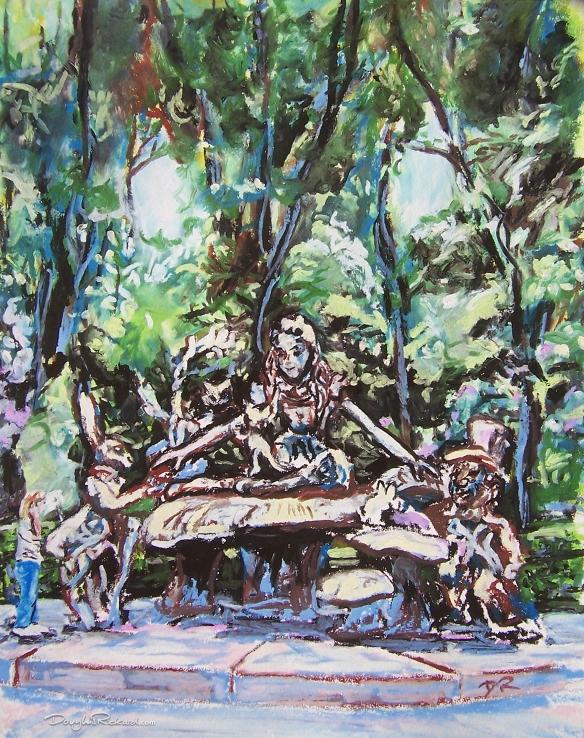 Alice in Wonderland statue, Central Park, New York by Douglas Rickard