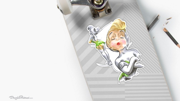 Tinker Bell large size stickers