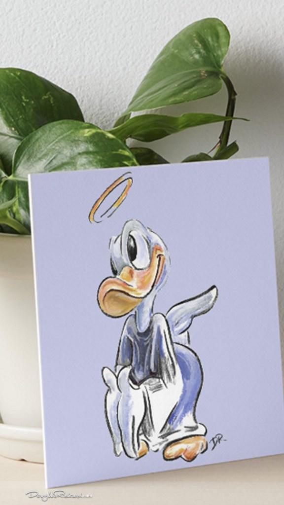 Angel Donald Duck Art Gallery Board