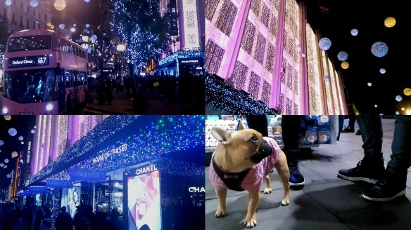 Pink Oxford Street London at Christmas 2016