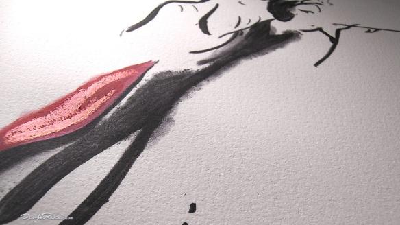 Cruella De Vil Hand Embellished Bespoke Fine Art Print