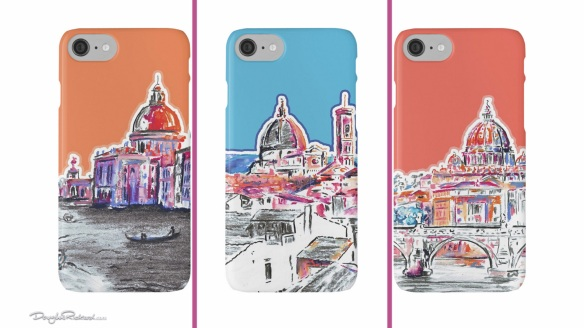 Modern Italian Art iPhone cases