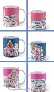 Modern Italian Art mugs