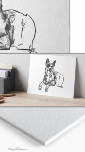 Blue Heeler Art Board