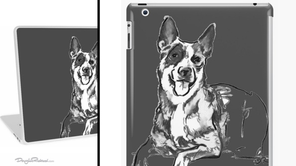 Blue Heeler Laptop Skins and iPad Cases