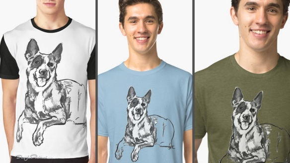 Blue Heeler Mens T-Shirts