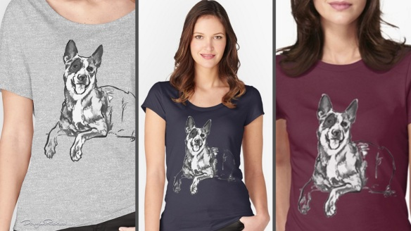 Blue Heeler Womens T-Shirts