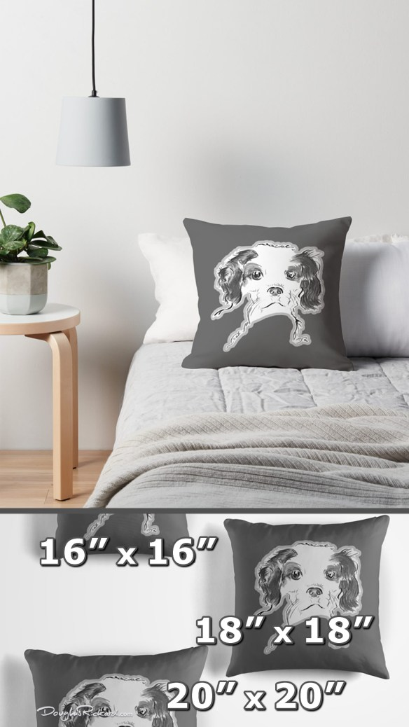 Cavalier King Charles Spaniel Puppy Throw Pillows