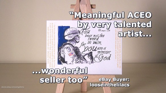 Meaningful military art ACEO