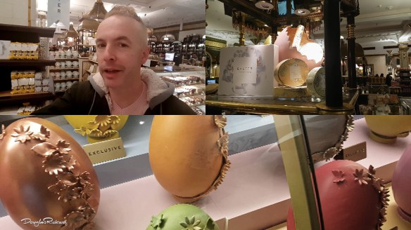 Douglas Rickard Easter egg shopping in Harrods