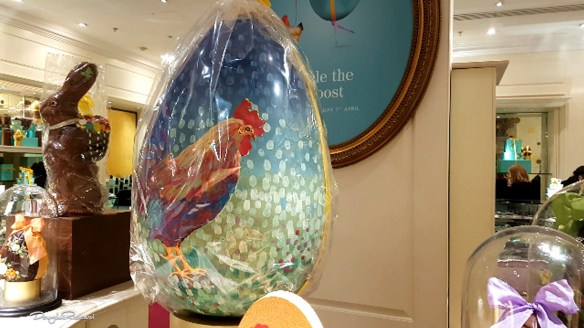 Giant Easter Egg in London store