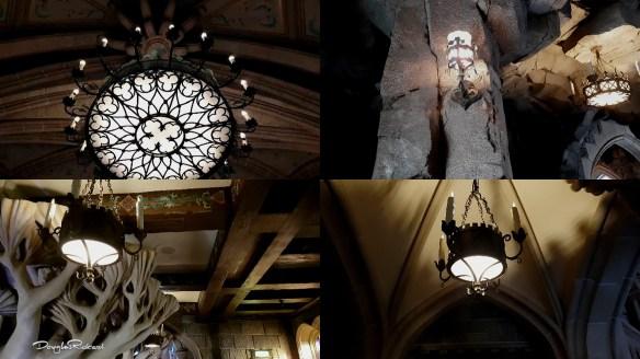 Lights and Lanterns inside the Disneyland Paris Castle