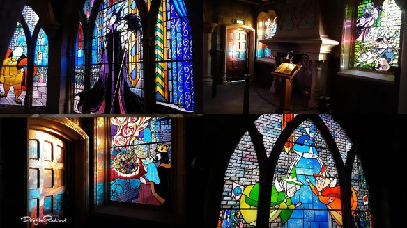 Stained Glass Windows of the Sleeping Beauty Castle at Disneyland Paris
